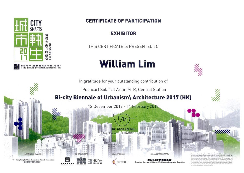 Bi-city Biennale of Urbanism Architecture 2017 (HK)_Pushcart Sofa William Lim