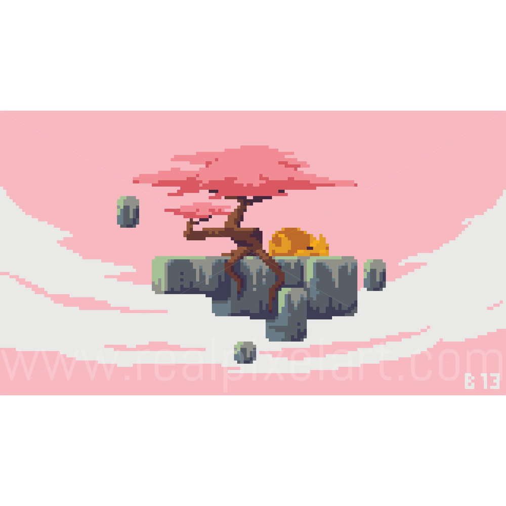 Pixel Art Floating Island
