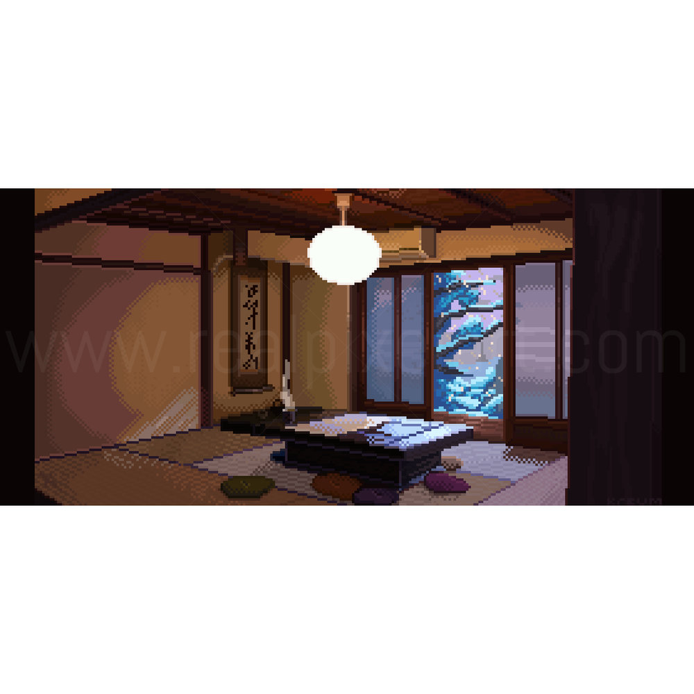 Pixel Art Japanese Guesthouse