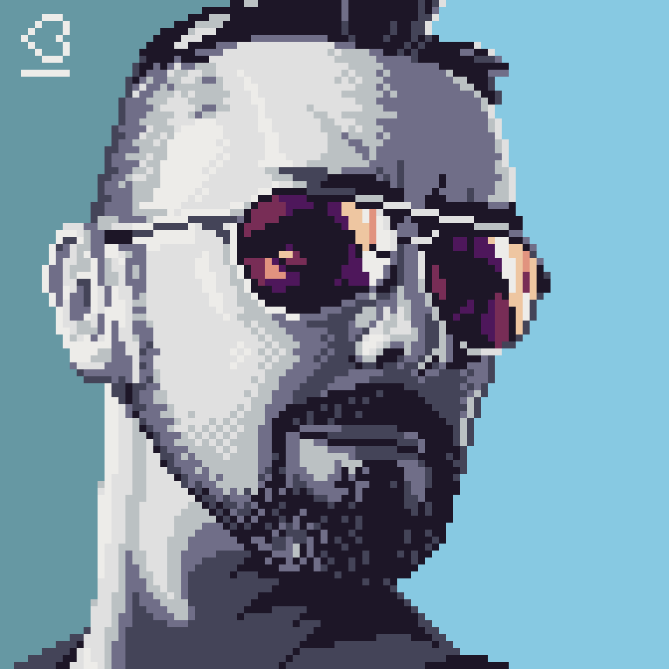 Portrait of Beardyman13 in Pixel Art