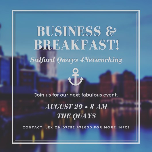 What better way to start the day than building more local business connections in a relaxed environment?! ⚓️ ☕️ 🖐🏻 We'll be meeting next Wednesday bright and early for a spot of quayside networking and breakfast! ⚓️ ☕️ 🖐🏻 Delighted to welcome our speaker, the lovely Janine Mitchell from @change_for_success ⚓️ ☕️ 🖐🏻 📩DM for more info or to book on!  #business #manchester #mediacity #salfordquays #salford #connections #smes #networking #networkingevent #savethedate #august #4n #4nworks #businessgrowth #motivation #businessspeakers #change #lifechoices
