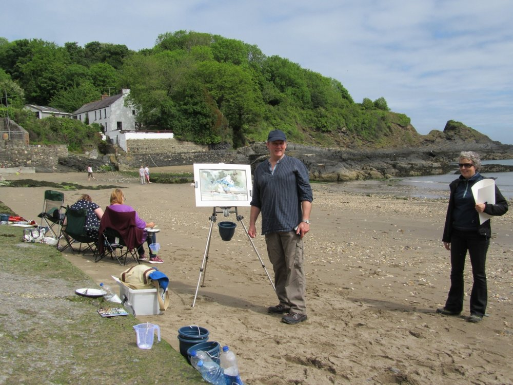 - One of the many painting venue options of our West Wales Painting Holiday.
