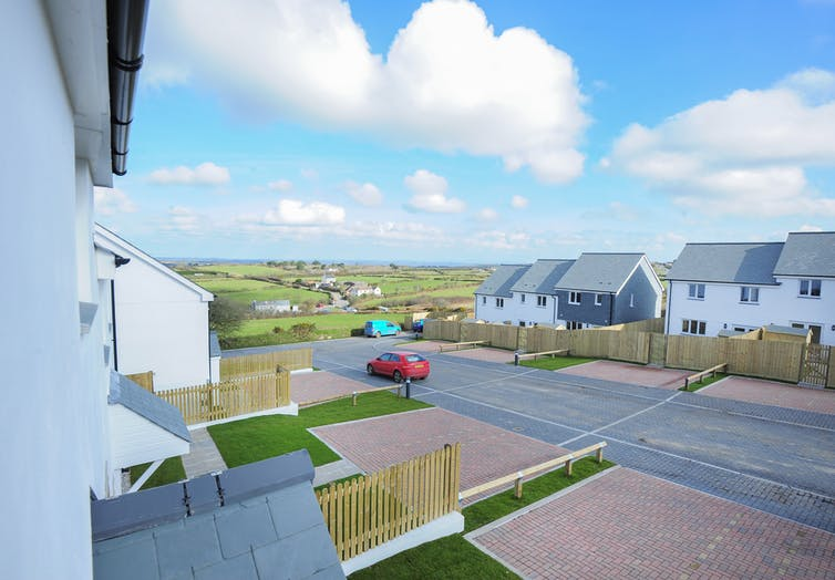 New homes built by Cornwall Community Land Trust in Rame, Cornwall.
