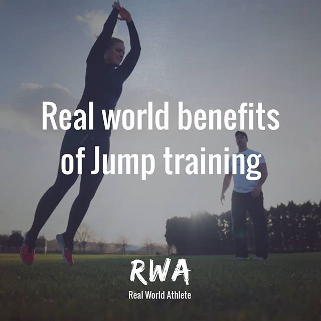 Why you should consider adding jumps to your training programme: _______________  1. Because being able to jump and land is a basic human function (Use it or lose it) _______________  2. It's a great way to train a-lactic abilities via tapping into high threshold motor units using 0 equipment.  _______________  3. Learning to absorb large amounts of force i.e. Landing and producing force in an explosive fashion i.e. Jumping will mitigate your risk of injury by... _______________  4. Improving the efficiency of your nervous system thus improving your reflexes and coordination. _______________  5. Developing the strength and robustness of muscle and connective tissue. _______________  6. Improving bone density.  _______________  Amongst many more reasons that are far beyond the scope of an IG post, but the bottom line is... Learn how to jump.  _______________  #realworldathlete #jump #plyometrics #injuryprevention #performance #health #logevity #legs #squat #power #speed #strength #training #sport #athlete #coach #fitness  #everyonesanathlete