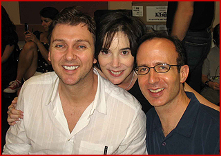 Ed Kessel with Director/Choreographer Warren Carlyle & Composer/Writer Jill Santoriello