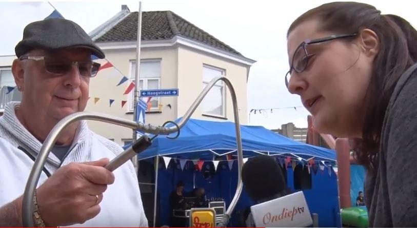 OndiepTV tijdens het Buurtfeest in de Rode Brugbuurt