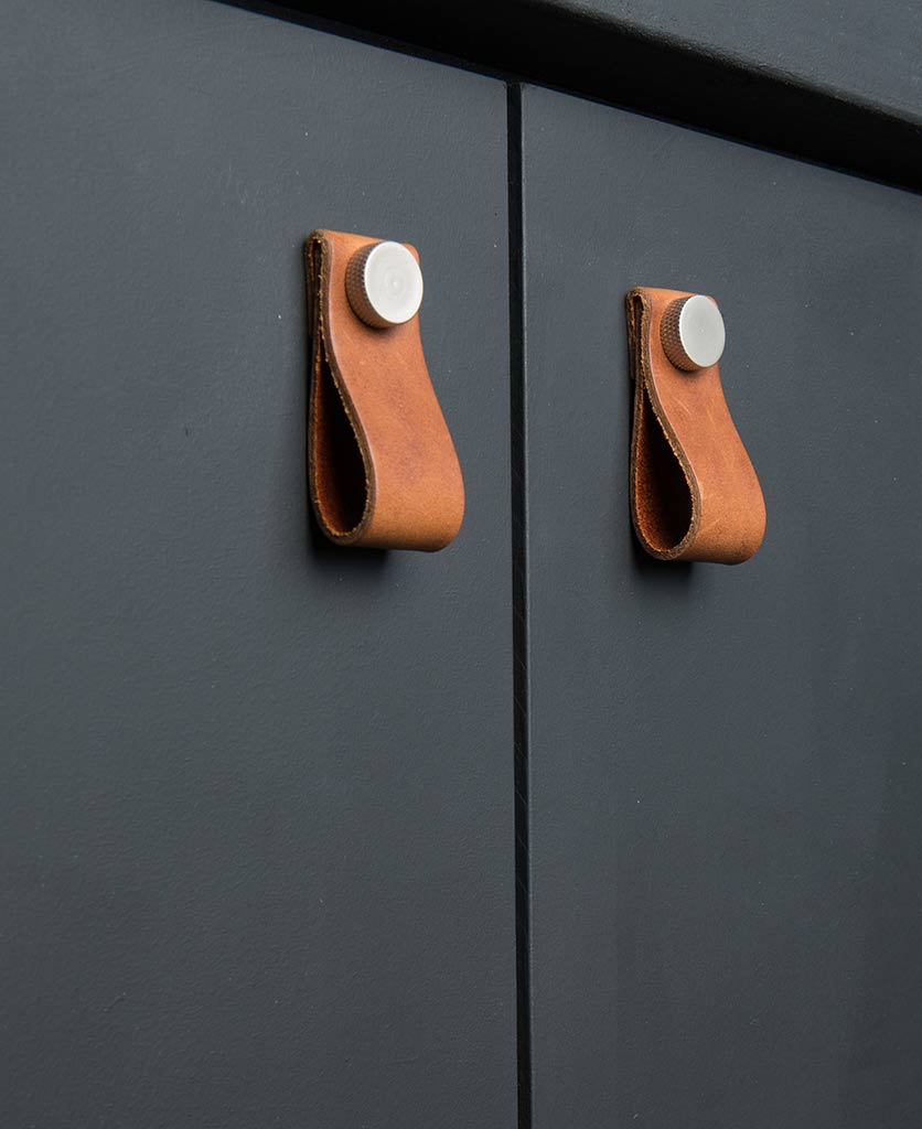 Magni Leather Cabinet Handles from Dowsing and Reynolds