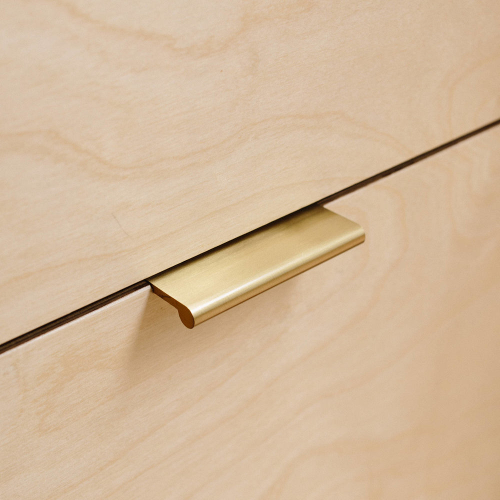Brass Edge Pull Cabinet Handles and Knobs from Plykea
