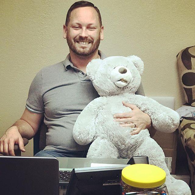 Daniel finally got his teddy bear 💗