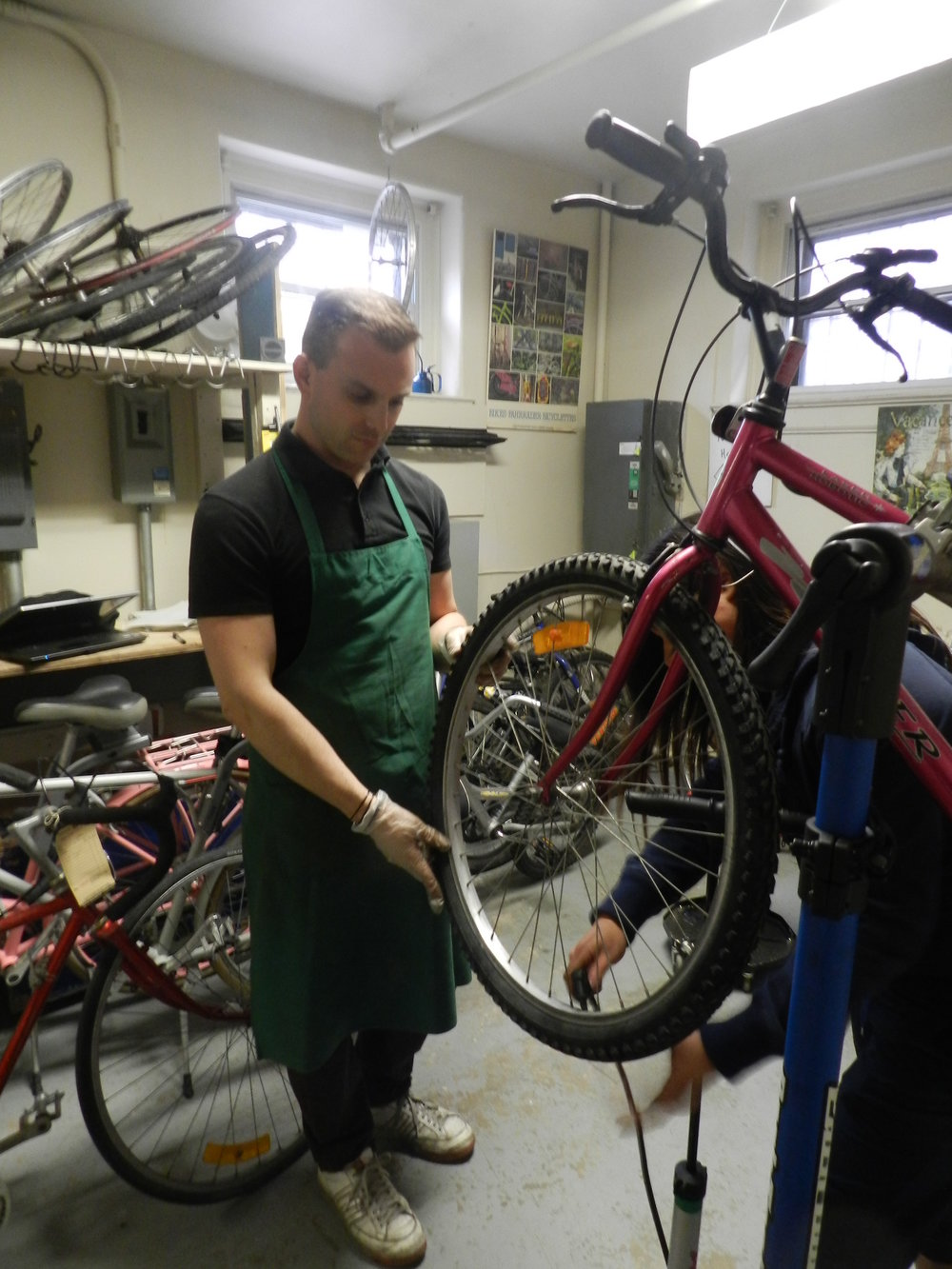Bill's Community Bike Shop - Saint Columba House's very own bikeshop,