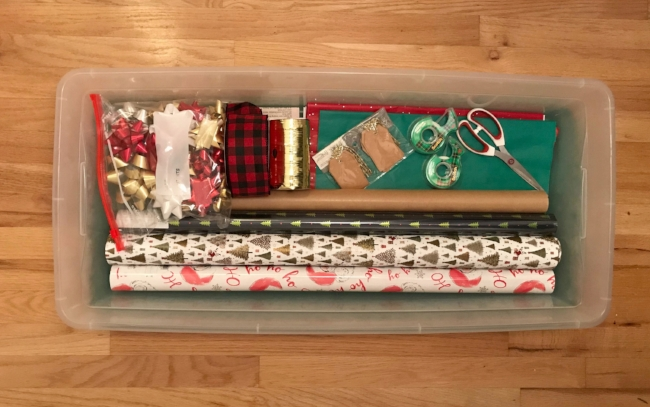 The Joyful Sort - Columbus, OH - Professional Organizer - Blog - Gift Wrap Station
