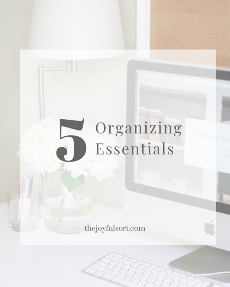 The Joyful Sort - Professional Organizer - Columbus, Ohio - Top 5 Organizing Essentials - Blog