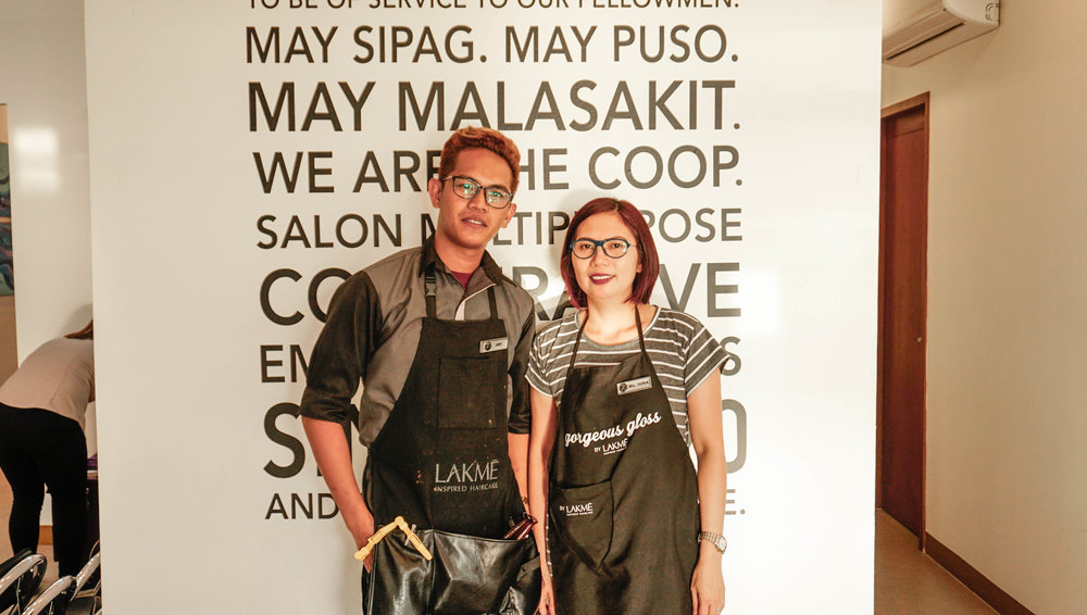 Sr. Stylist Ms. Gina and her assistant, Kuya Jay! - The wonderful people who treated my hair and I with tender-loving care.