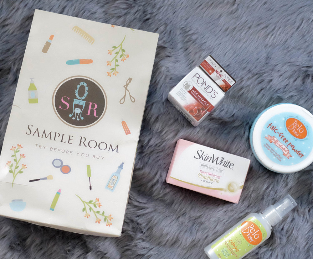 the goodies - I got some thoughtful gifts from Sample Room which are really apt for what both Yñigo and I (even Bobby) need!We got:1) Pond's Age Miracle Wrinkle Corrector2) SkinWhite Whitening Soap3) Belo Baby Talc-Free Powder, and4) Belo Baby Cologne