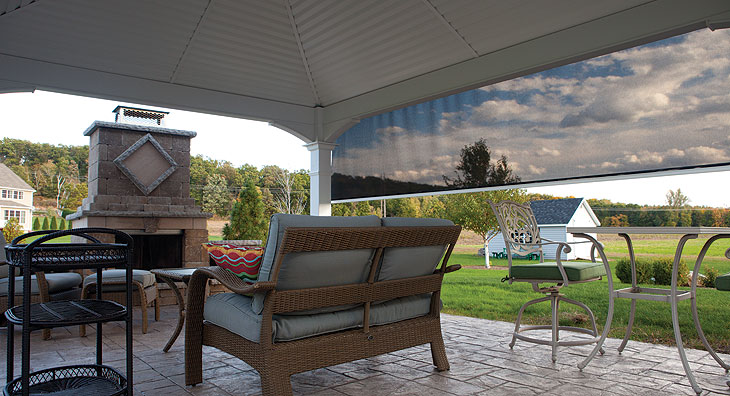 The Eclipse E-Zip solar shade