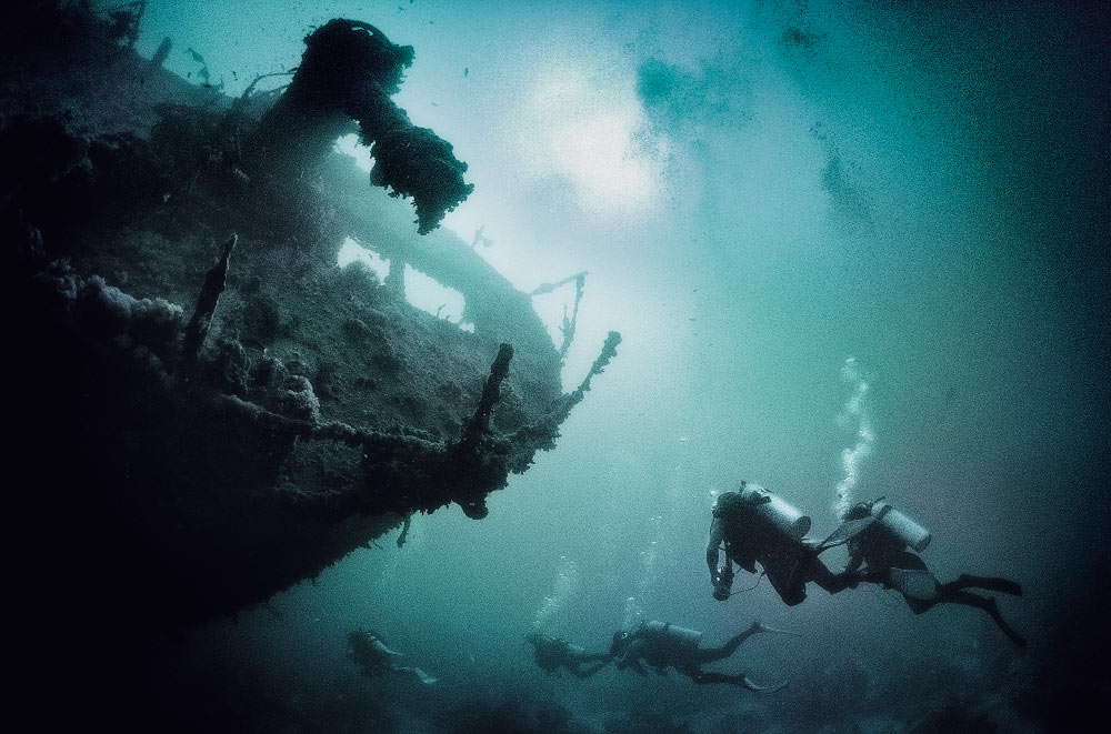 Wreck of the SS Thistlegorm, near Res Muhammad, Red Sea