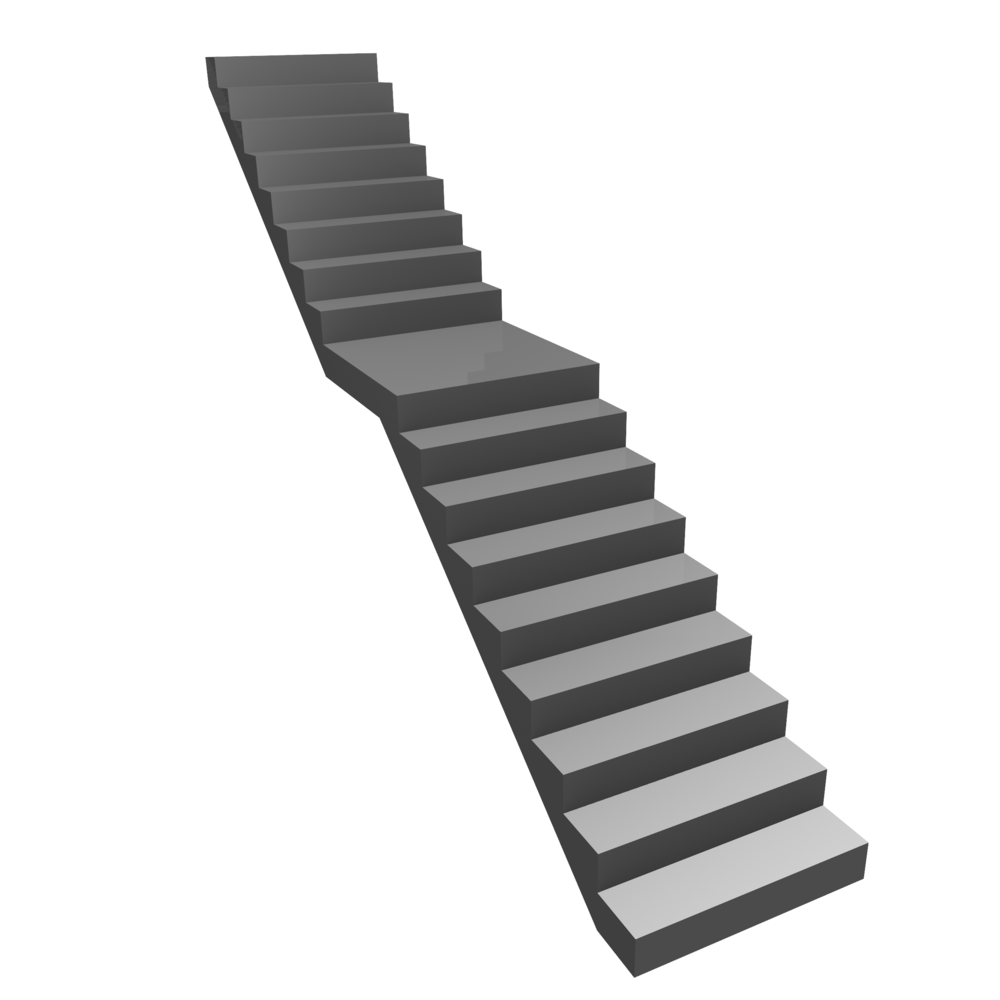 Straight Stairs with Central Landing