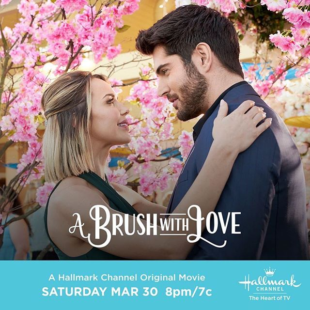 We spy romance & spring so perfect for the next #SpringFever film from @hallmarkchannel! Ready for our Sat. night date! 👩‍🎨💕🌸💐🌼 #thebubblysesh #podcast #podcasting #hallmarkies #hearties #hallmarkchannel #hallmarkmovies #spring #romance #art #happy #joy #saturdaynight  #Repost @hallmarkchannel ・・・ Jamie @ariellekebbel gets a second chance at pursuing her career as an artist after being selected to submit to an exclusive art festival. Will this opportunity also open the door to a romance with her best friend's brother Max @nick__bateman? #ABrushWithLove premieres this Saturday at 8pm/7c. 💕