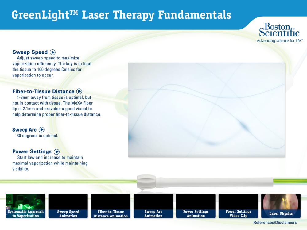 GreenLight Laser Therapy Fundamentals
