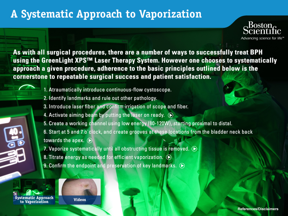 A Systematic Approach to Vaporization