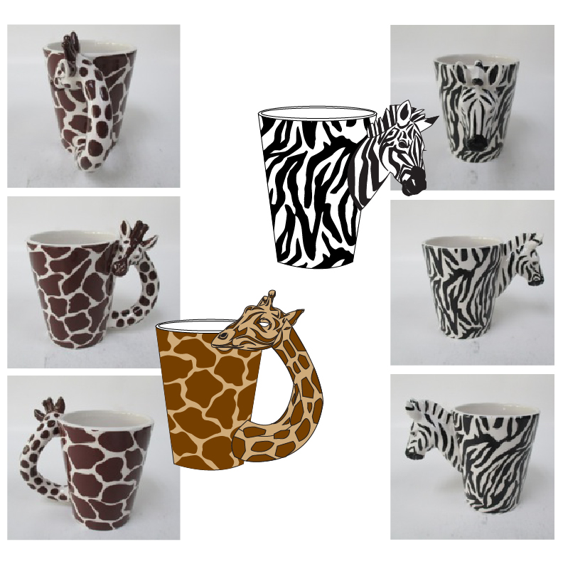Giraffe & Zebra Mugs