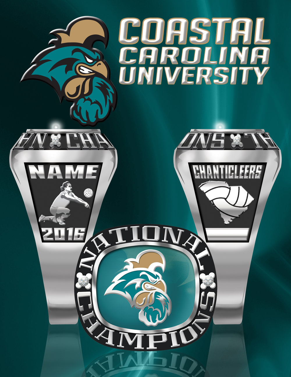 Chanticleers Volleyball Champ Ring