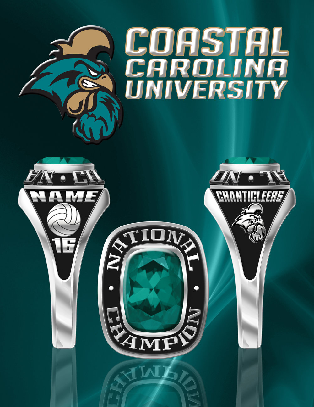 University Women's Volleyball National Champ Ring