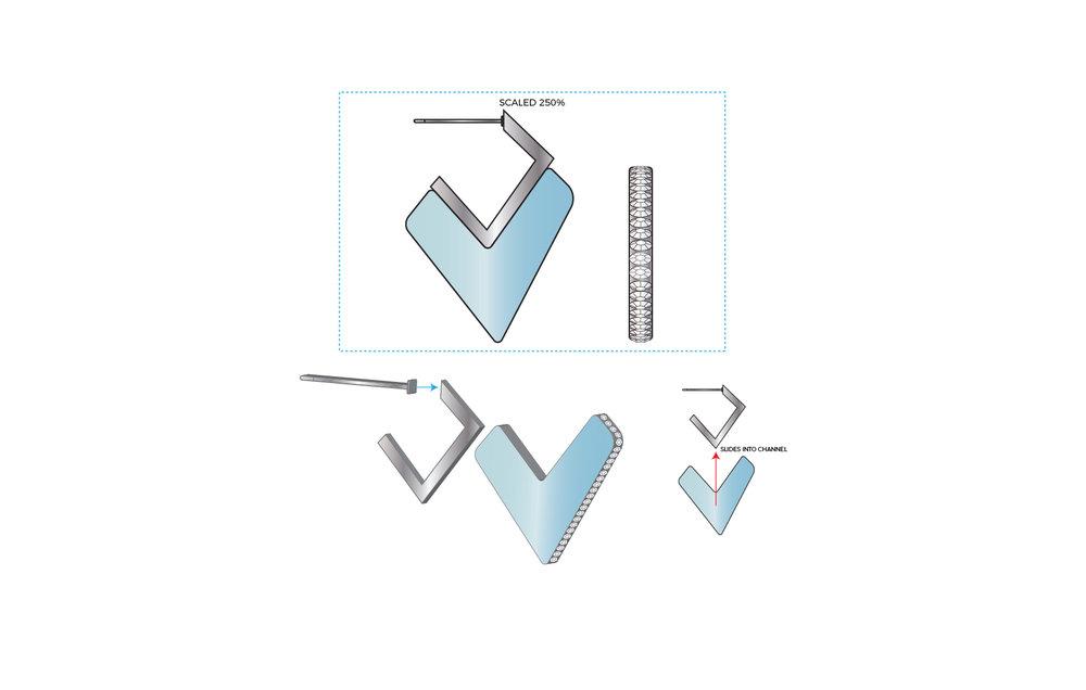 Sliding Earrings Concept C