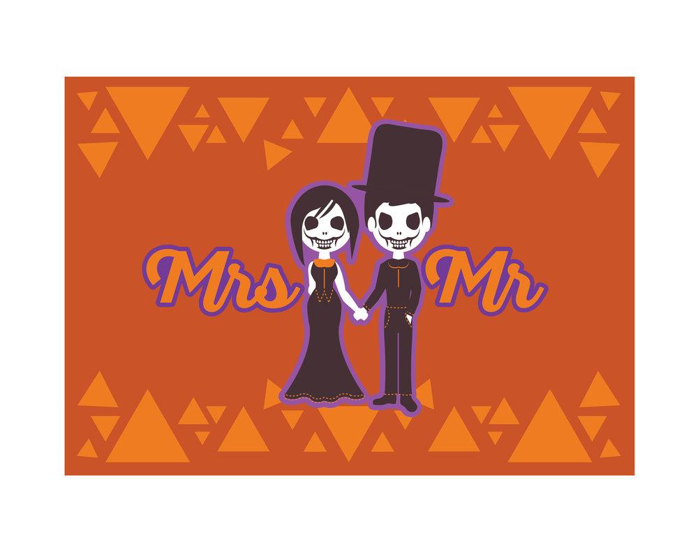 Mr & Mrs Undead Couple Placemat