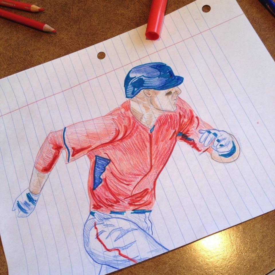 Baseball Player Sketch