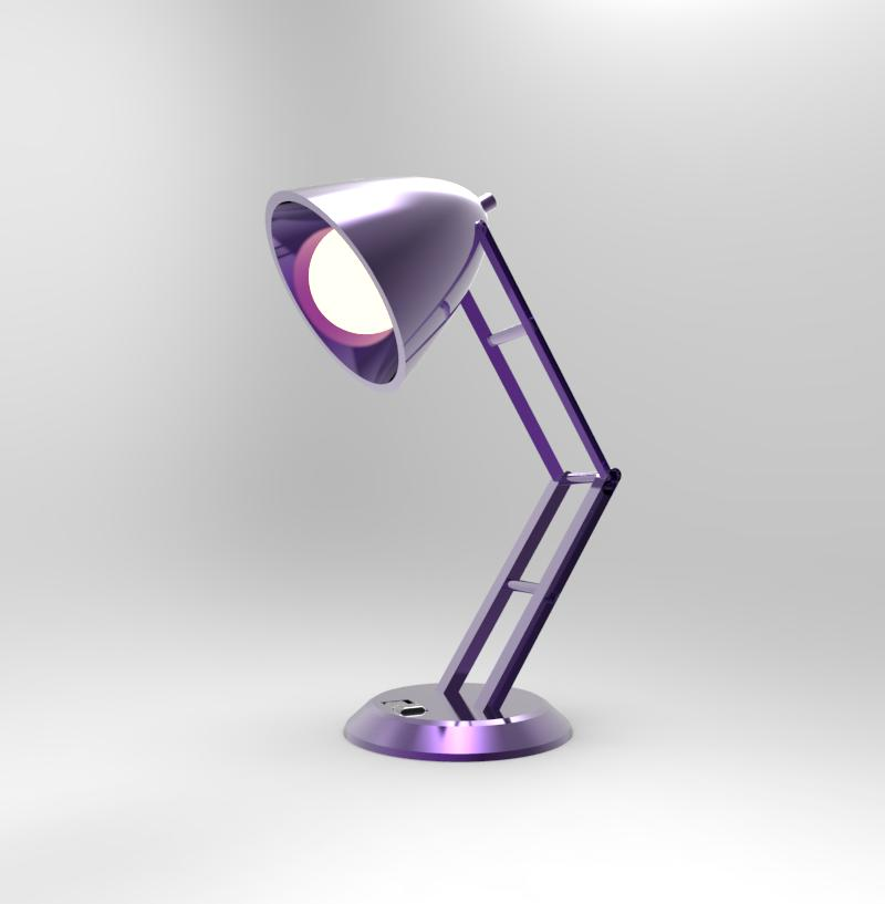 Purple Lamp - On