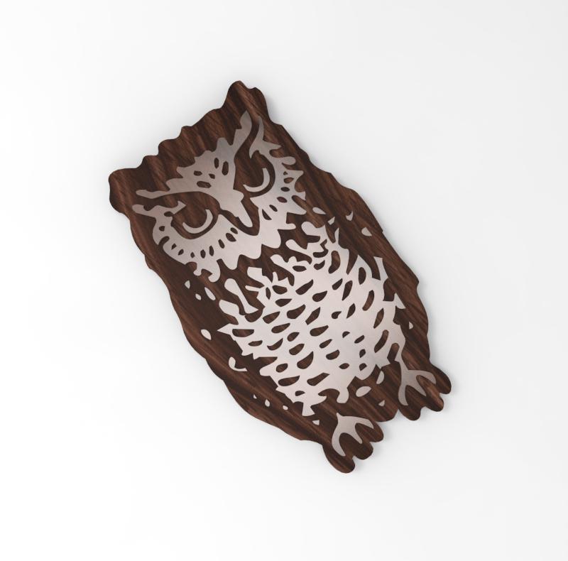Wooden Owl - Top View