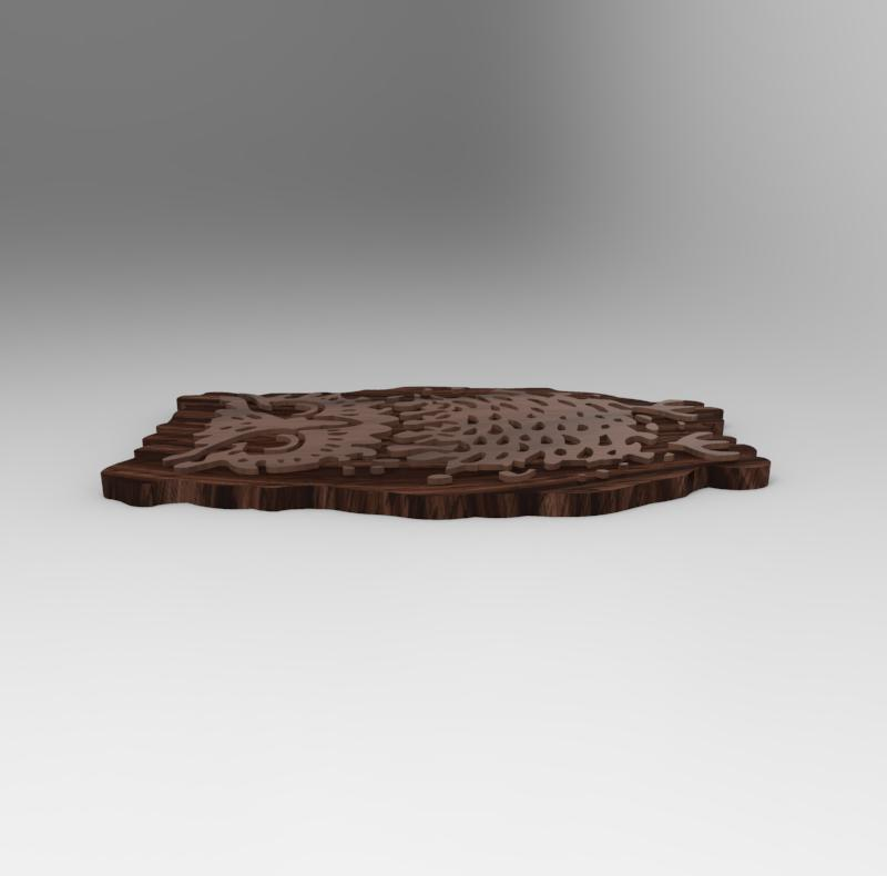Wooden Owl - Side View
