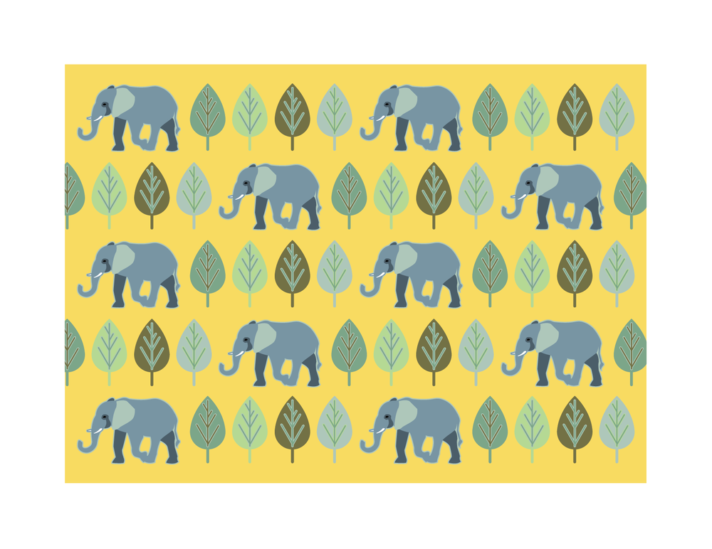African Elephant Pattern