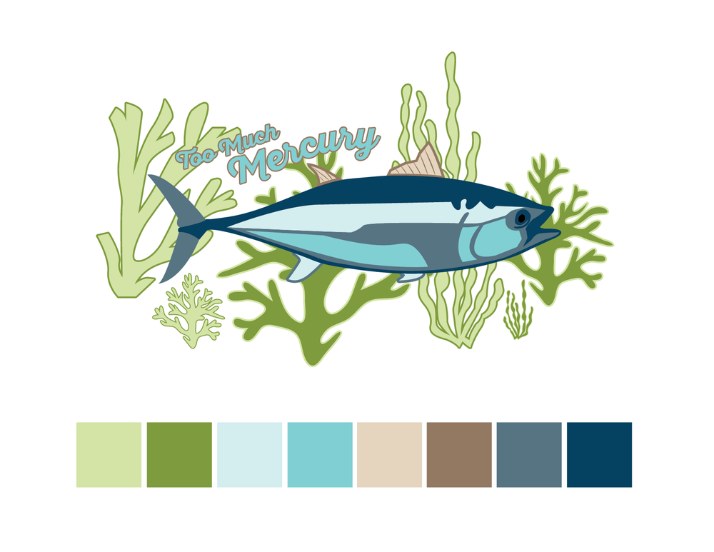 Albacore Tuna Color Palette