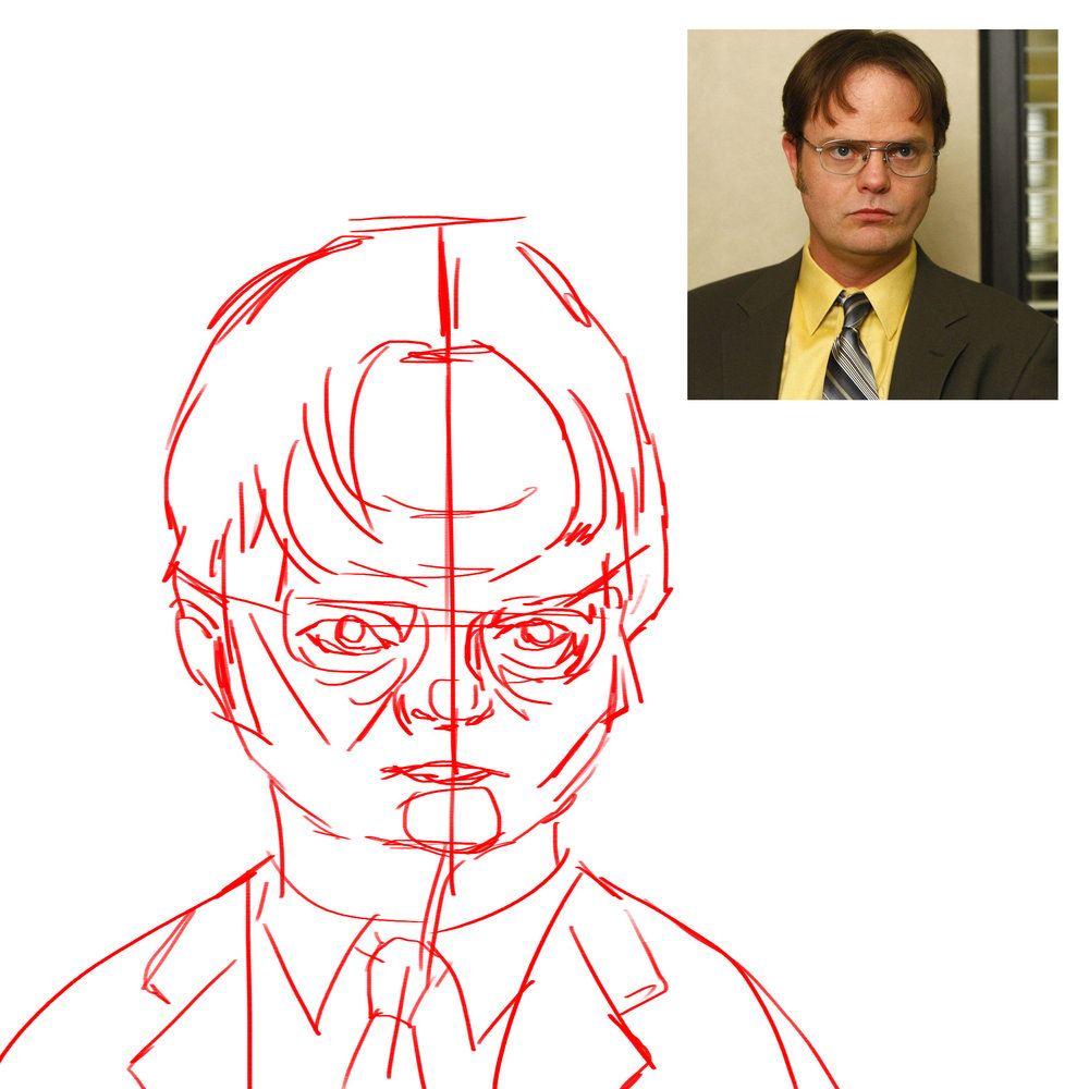 Dwight Schrute Loose Sketch