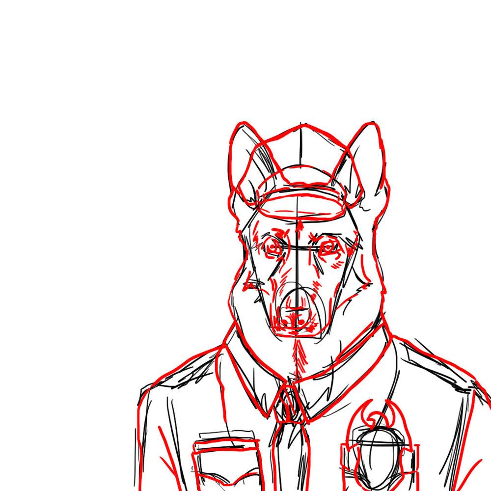 Officer Jeremy Shepherd Loose Sketch