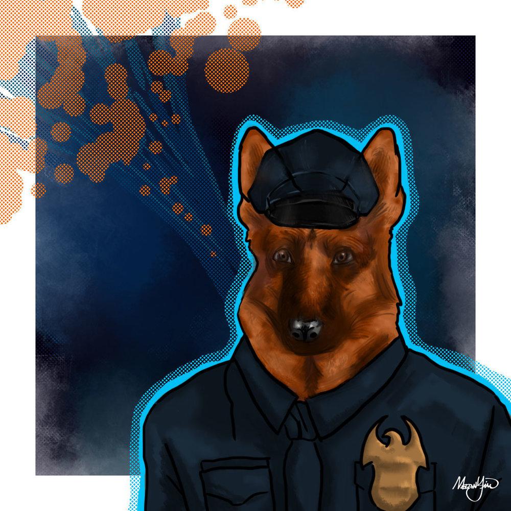 Officer Jeremy Shepherd Digital Painting