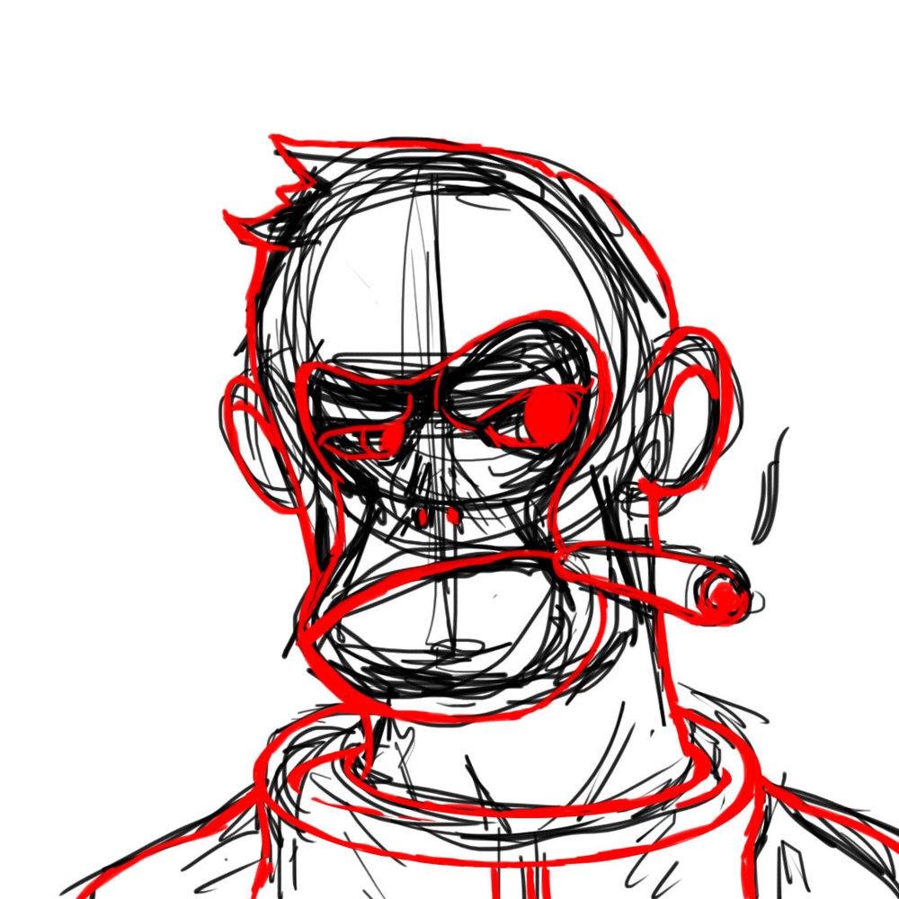 Space Monkey Loose Sketch