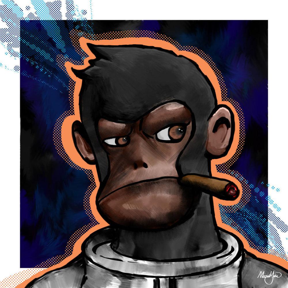 Space Monkey Digital Painting