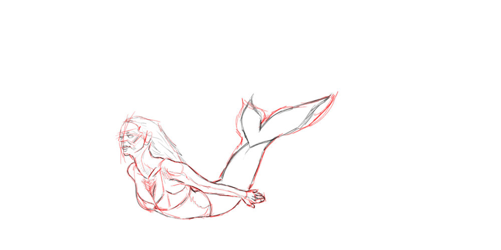 Mermaid - Loose Sketch
