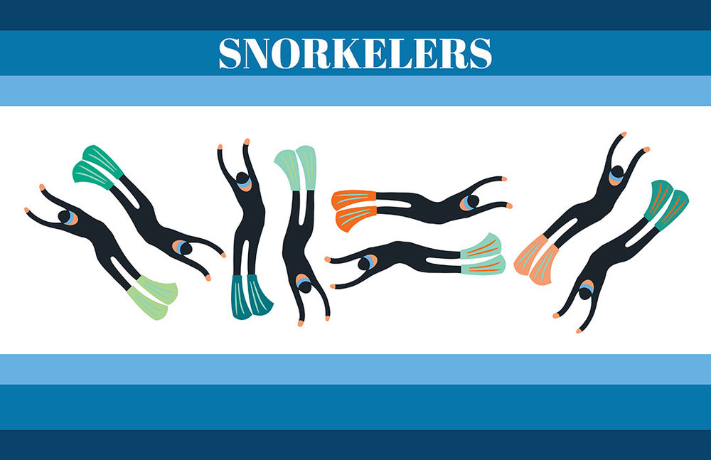 Snorkeler Silhouettes