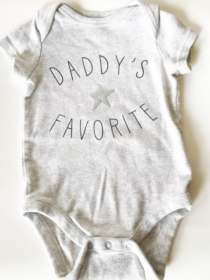 Baby Gap Short Sleeve Onsie - Size: 3-6 MonthsOriginal Price:$15.00ThredUp Price: $5.99Another Baby Gap find for the win! I love neutral colors and I thought this onsie was just the sweetest. My husband and son have such a special bond and I thought this outfit was a perfect representation of that. I also liked the short sleeves on this since the spring time is also pretty warm and humid (gotta love Texas!)