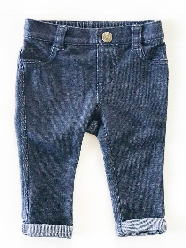 Old Navy Jeggings - Size: 3-6 MonthsOriginal Price: $15.00ThredUp Price: $4.99Ok, so how cute are these?! I put Isaiah in these jeggings yesterday and they fit him perfectly. I love that they look super trendy, but are so soft and stretchy so I don't mind him staying in them all day without feeling confined. Such a score!
