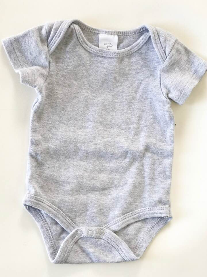 Chick Pea Short Sleeve Onsie - Size: 3-6 MonthsOriginal Price: $7.00ThredUp Price: $4.99Grey is one of my favorite colors on my son and I love the fact that this onsie is a staple that any mama would love to have in their clothing collection.