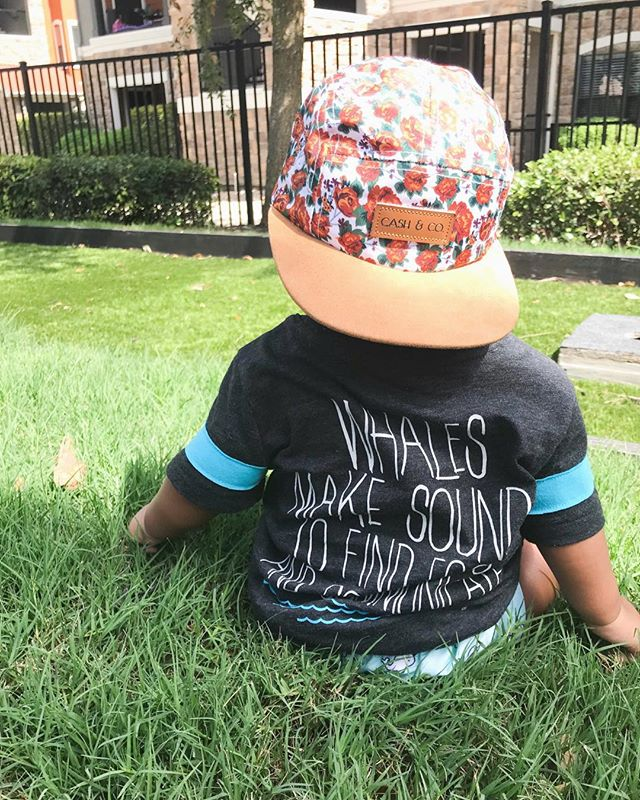 """Whales make sounds to find food and communicate"" double tap if you're a mamma who's into those educational tee's 😂 Target for the win! Crazy how this shirt is a 2T though 😶😶 Also Zay's hat is from @cash_and_co isn't it cute?!"