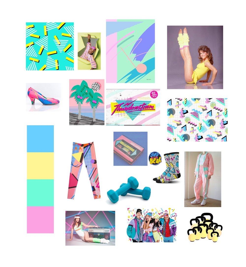 80's pastel theme
