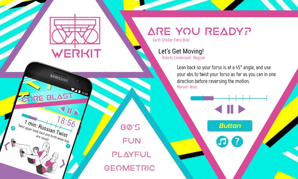 80's theme: fun, playful, geometric, quirky