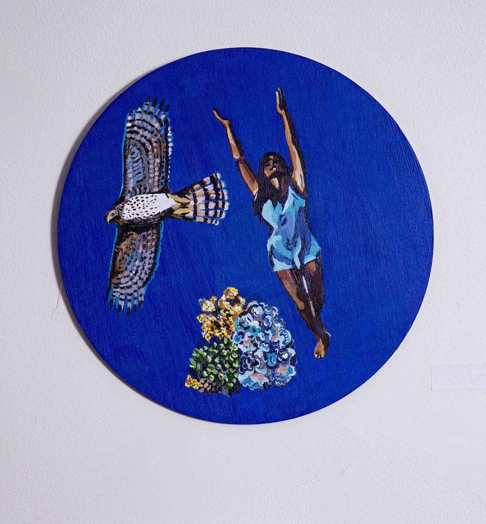 Hawk, Dancer and Lichen - Melissa Glasser - AV 2018