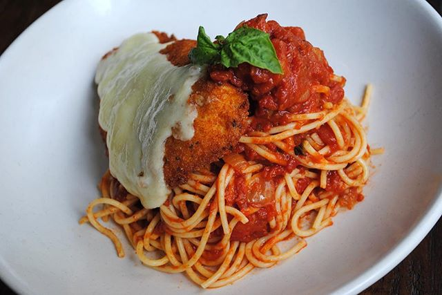 Don't feel like cooking tonight? Join us at @baroxfordpgh for housemade classics like our chicken Parmesan with fried marinated chicken, fresh mozzarella, spaghetti in our signature red sauce 🍝  Make it a dinner and a show with live music from @eclecticacoustics beginning at 4 PM 🎶